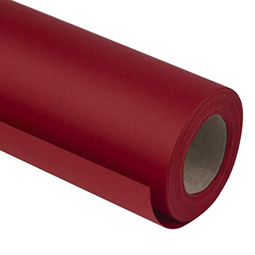 RUSPEPA Rouleau De Papier Kraft Rouge - Papier Épais De 81,5 Pieds Carrés Pour Noël, La Saint-Valentin Et Tout Le Monde De L'Occasion - 76,2 CM X 10 M