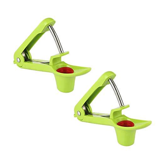 YDong 2 Piezas de Deshuesadora o Deshuesadora de Cerezas, Deshuesadora de Aceitunas, Deshuesadora de Cerezas o Herramientas para Quitar Semillas de Frutas (Verde)