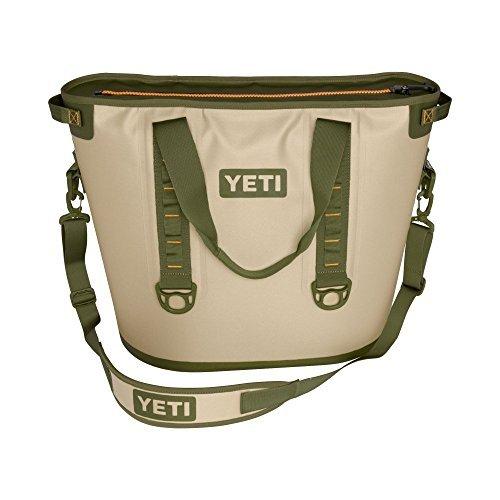 YETI Hopper 40 Portable Cooler Field Tan / Blaze Orange