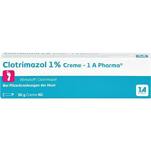 Clotrimazol 1% Creme - 1 A Pharma bei Pilzerkrankungen der Haut, 50 g Creme