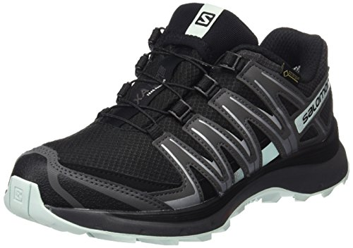 Salomon XA Lite GTX W, Zapatillas de Trail Running Mujer, Negro/Turquesa (Black/Magnet/Fair Aqua), 38 2/3 EU