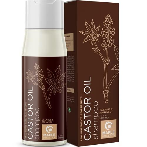 Castor Oil Hair Shampoo with Biotin - Sulfate Free Shampoo for...