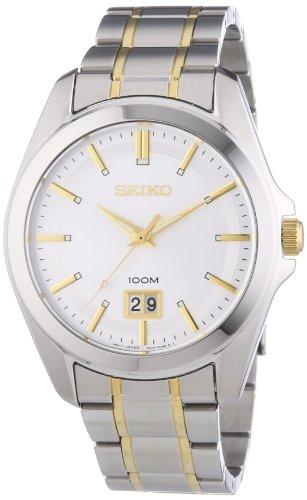 Seiko Herren-Armbanduhr XL Analog Quarz Edelstahl SUR011P1