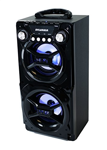 LEDVANCE Sylvania Portable Bluetooth Speaker, Black, 7 x 8.2 x 15.5 inches (SP328-BLACK)