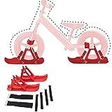 Honored Trineos para coche de equilibrio eléctrico para niños, trineos de nieve, equipo portátil ligero, equipo de esquí para bicicleta, traje de trineo (color: azul)