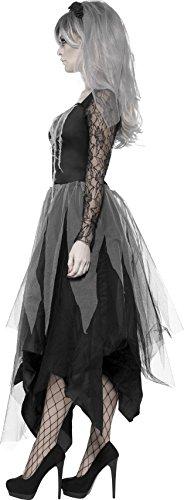 Smiffys Costume Sposa Sepolcrale, comprende Abito e Velo con Rose, L