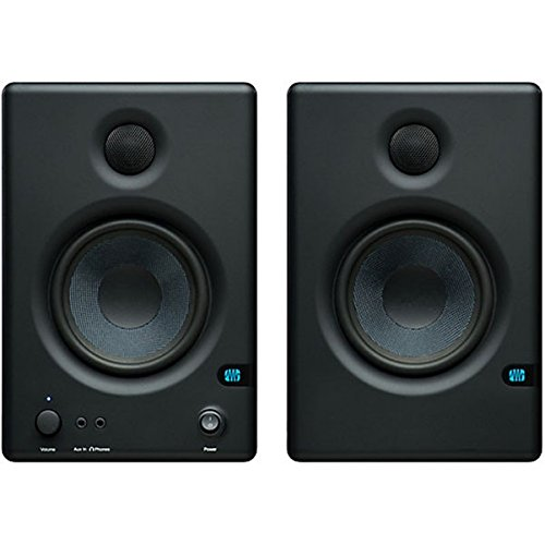 Presonus Eris 4.5 High Definition 2-Way 4.5-Inch Near-Field Studio Monitors Bundle With Two Instrument Cables, And Polishing Cloth - Pair