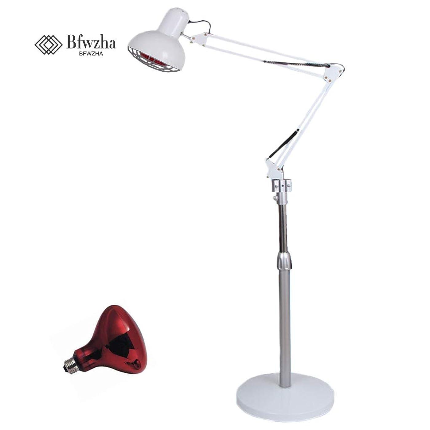 灌漑訴えるスタック275ワット赤外線赤熱ランプ筋肉肌鍼治療フロアスタンド調節可能なアーム美容院プロの電球付きライト
