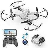 A10 720P Mini Drone con Telecamera HD Pieghevole FPV Controllo Vocale, Controllo Gesti, Volo...