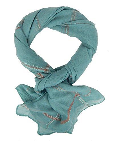 Ella Jonte Écharpes foulard d'homme élégant et tendance de la dernière collection by Casual-style turquoise