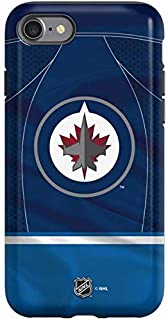 Skinit Pro Phone Case Compatible with iPhone SE - Officially Licensed NHL Winnipeg Jets Jersey Design