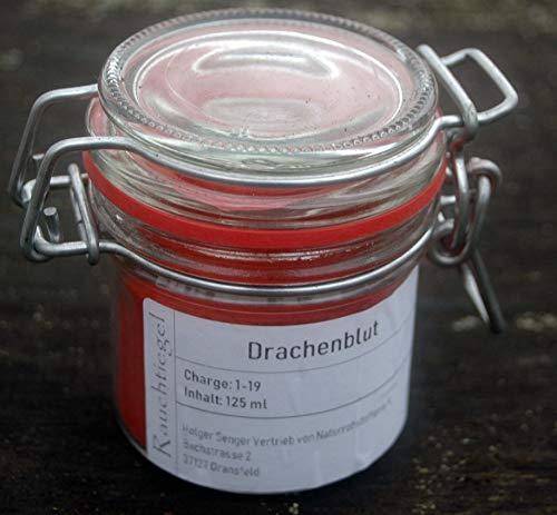 Naturix24 Räucherwerk, Reine Harze zum Räuchern, Räucherharze im Drahtbügelglas (Drachenblut gemahlen, 125 ml)
