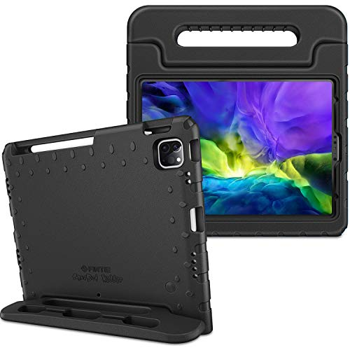 """Fintie Case for iPad Air 4th Generation 10.9"""" 2020, iPad Pro 11-inch (3rd generation) 2021 / iPad Pro 11 2020 & 2018 - Kiddie Lightweight Shockproof Kids Friendly Stand Cover, Pencil Holder, Black"""