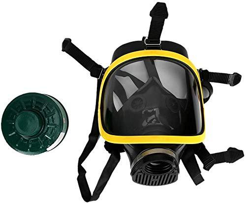 Realistisch gasmasker, Volledig masker gasmasker brede kijkhoek rubberen masker volgelaatsmasker stoommasker stoommasker