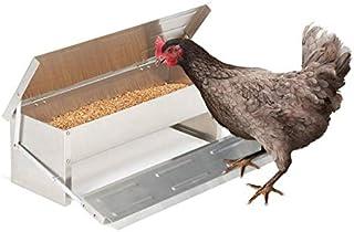 IDMarket - Mangeoire XL pour Poules Distributeur Automatique à pédale en Acier 5 kg