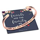 M MOOHAM Best Friend Friendship Gifts for Women, Friends are The Family We Choose Bracelet Jewelry Gifts for...