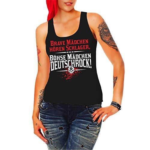 Spaß kostet Frauen und Damen Trägershirt Brave Mädchen hören Schlager böse Mädchen Deutschrock Größe XS - 3XL