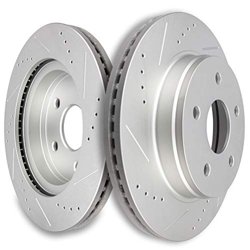 Brakes Rotors SCITOO 2pcs Front Drilled Slotted...