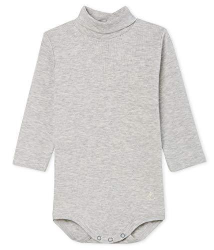 Petit Bateau Body Ml Col Roulé_5018703 Shaping, Gris (Beluga Chine 03), 95 (Talla del Fabricante: 12M/74centimeters) para Bebés