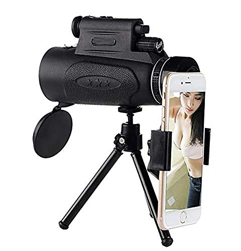 Zuoao 50X60 Optical Super Telephoto Zoom Monocular Telescope Portable, HD Camera Phone Lens, Telescope with Tripod for Smartphone for Camping Concert and Best Gift