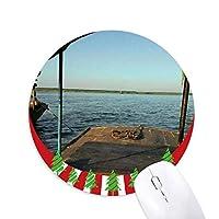 海面 円形滑りゴムのマウスパッドクリスマス飾り