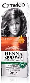 Cameleo Herbal Henna para colorear, crema rojo cobre de 75g. Extracto de henna natural con aceite marroquí