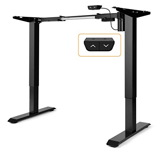 ErGear Electric Stand Desk Frame - Adjustable Height Desk Legs Ergonomic Standing Desk Motor Motorized Workstation Base Black Table Frame Only
