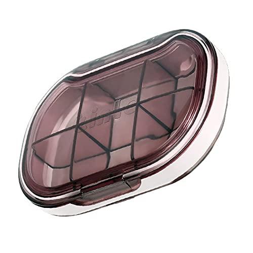Mini Pastillero 4/6 Compartimentos 7 días Organizador de Estuche de Pastillas Impermeable para Bolso de Viaje Diario Titular de Aceite de Pescado con Vitamina portátil