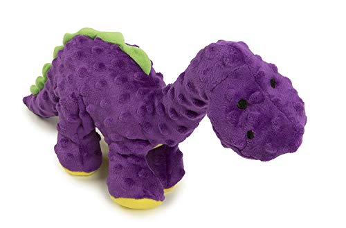 Quaker Pet Products goDog Spike Dino Jouet pour Chien avec Technologie Anti-Mastication, Autre, Violet, Purple