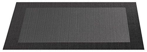 ASA Selection Set de table en PVC avec bord tissé anthracite