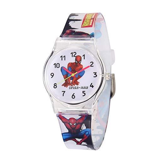 Montre Enfant Fille ZWRY Spidermans Batmans Dessin animé Enfants Montres 30 M gelée étanche Motif Mignon Bracelet Enfants Montre-Bracelet garçons bébé Cadeau Spiderman