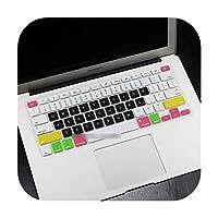 英語米国Enterシリコンキーボードカバープロテクタースキンケースfor Applefor MacBook Air13ラップトップ20172016 2015 2014 2013 A1466 -Candy black