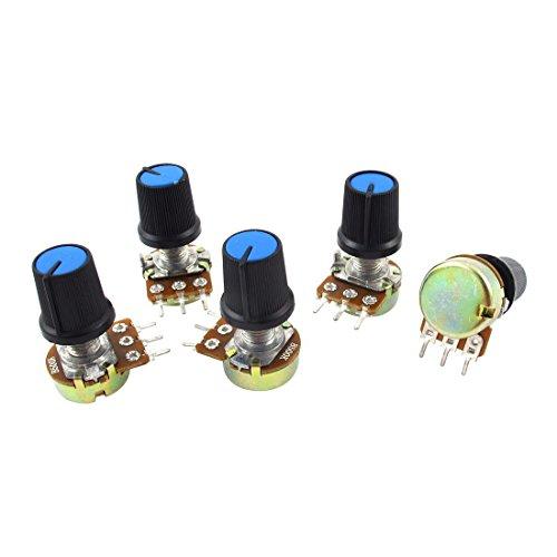 Potenciometro - SODIAL(R) 5 pzs B500K 500K Ohm 3 Terminales Potenciometro de B tipo de audio giratorio