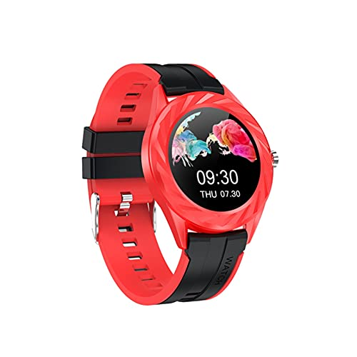 HBFLJYT Smart Watch IP67 Impermeable Compatible con teléfonos Android Tracker Fitness para Hombres Mujeres,Rojo