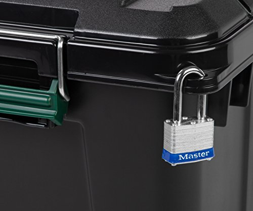Remington 82 Quart WEATHERTIGHT Storage Box, Store-It-All Utility Tote, 4 Pack, Black 5