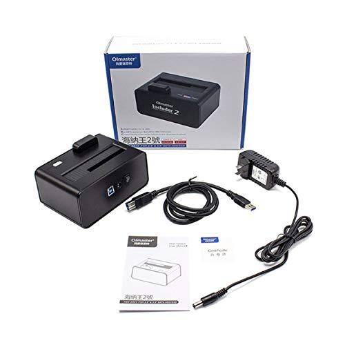 Detectoy 3.5 Pulgadas Base de Base para Disco Duro USB3.0 Unidad de Disco para Disco Duro hasta 8TB Unidad de Acoplamiento para Disco Externo para computadora de Escritorio portátil