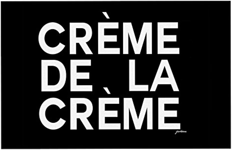 KESS InHouse Geordanna CorderoFields Creme De La Creme  Black White Dog Place Mat, 13  x 18