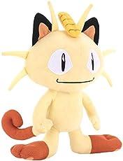 Pokemon Pikachu Bulbasaur Charmander Squirtle Plush Stuffed Figure with Name Tag Meowth