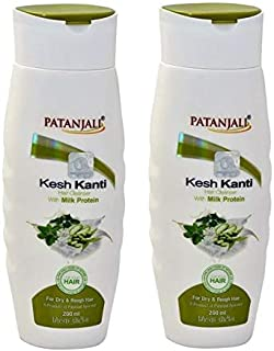 Patanjali Kesh Kanti Milk Protein Hair Cleanser 200ml Pack of 2