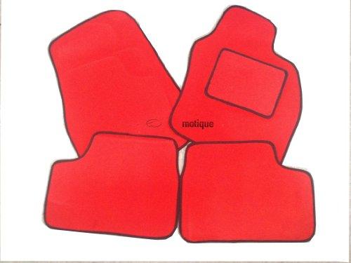 DAF CF camión 2piezas Alfombrillas a medida Rosso rojo alfombra + borde negro