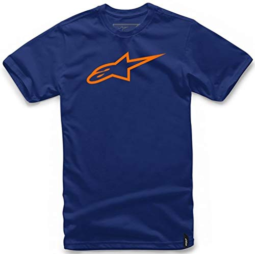 Alpinestars Herren T-Shirt Ageless Classic Tee, Navy/Orange, M, 1032-72030