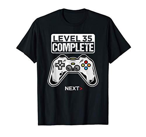 35 Anni Compleanno regalo videogiochi level 35 complete Maglietta
