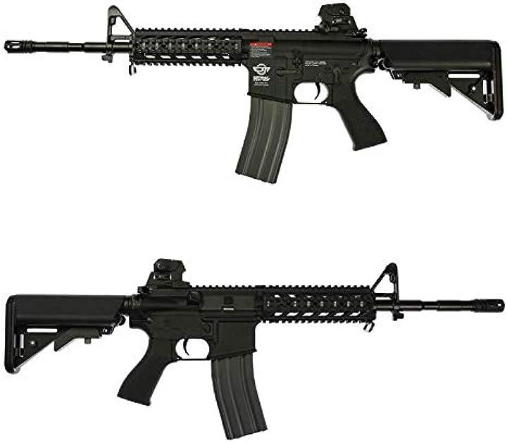 Fucile assalto softair g1 fucile softair abs m4 cm16 combat machine raider-l egc-16p-rdl nero 0.9 joule B07R8KT7W2