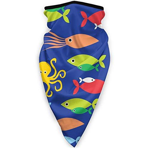 BJAMAJ - Mscara de calamar y pulpo al aire libre, resistente al viento, mscara de esqu, bufanda, pauelo para hombre y mujer
