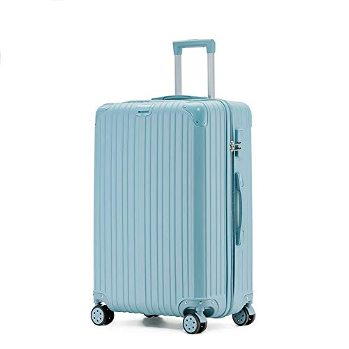 Rechargeable Trolley Luggage Student Travel Luggage Universal Wheel Boarding Suitcase(20'/22'/24'/26') (20',C)