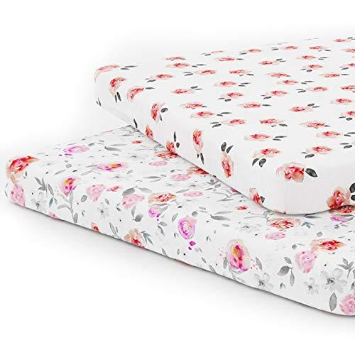 Pack n Play Playard Sheet Set - Portable Mini Crib Mattress Pad...