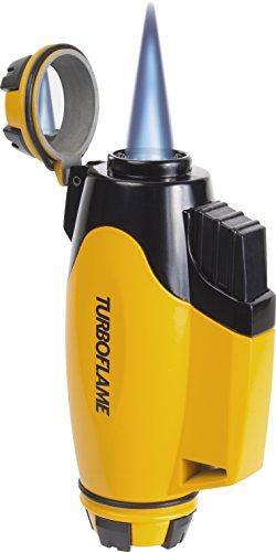 Turboflame Phoenix Militär gelb windresistent Jet Taschenlampe Flame Butan Anzünder