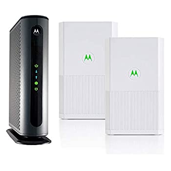 Motorola MB8600 Cable Modem + Whole Home Tri-Band Mesh System 2-Pack | Top Tier Internet Speeds | Approved for Comcast Xfinity Gigabit Cox Gigablast and More –Modem and Whole Home Mesh System Bundle