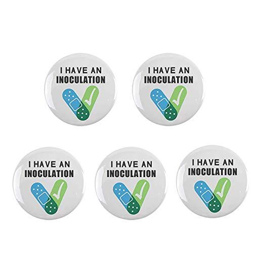 Lijunwin Protector de broche decorativo con indicación clara de salud H insignia, identificación de vacunación (como se muestra, 15 x 10 x 2)