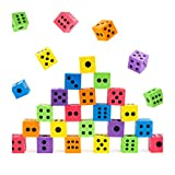THE TWIDDLERS 48 Large Foam Dice Set - Colorful & Educational - 1.5 Inch